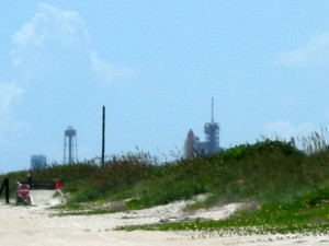 Canaveral National Seashore ranked 23rd on Trip Advisor's 2013  Traveler's Choice list.  While not a factor in this year's ranking one key feature of the beach used to be the proximity to the Space Shuttle launch pads. Photo R. Anderson