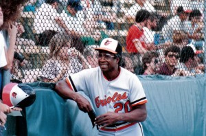 Frank Robinson at Tinker Field 1986
