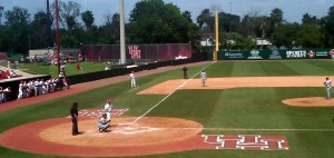 College players like the ones pictured for the University of Houston have used metal bats for years. Photo R. Anderson