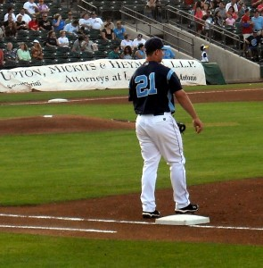 After eight years in the minor league farm system of the Houston Astros and Toronto Blue Jays Koby Clemens has landed with the Sugarland Skeeters of the Atlantic League. Photo R Anderson
