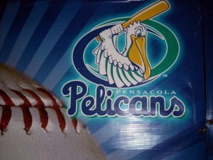 The Pensacola Pelicans are a former independant baseball team where players would try to prolong their careers. Photo R. Anderson