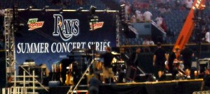 Over the past few years teams such as the Tampa Bay Rays have added post game concerts to the fan experience. Photo R Anderson