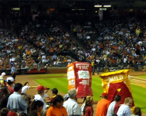 Racing sauce packets used to be a staple of Houston Astros games.  Photo R Anderson