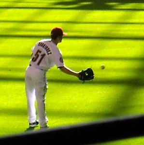 Former Houston Astros pitcher Wandy Rodriguez is one of the few pitchers with actual pop in their bat. Photo R Anderson