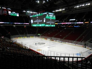 The ice will soon be covered and the wait will begin in Houston's bid for a National Hockey League team. Photo R. Anderson