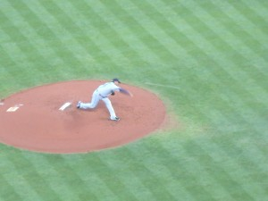 Felix Hernandez of the Seattle Mariners recorded his 100th career victory Monday at Minute Maid Park. Photo R. Anderson