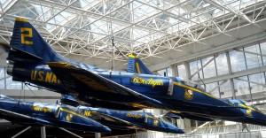 For the rest of the year the rotunda at the National Aviation Museum in Pensacola, FL. is the only place to see the Blue Angels. Photo R. Anderson