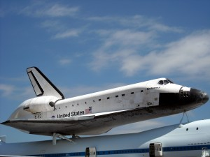 Space Shuttle Endeavour en route to retirement in California. Photo R. Anderson