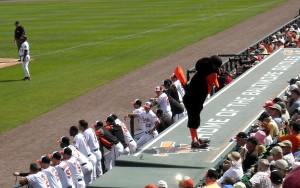 For over 30 years the Oriole Bird has been thankful to be a country boy, err bird and has been dugout dancing during the seventh inning with one lucky fan. Photo R. Anderson