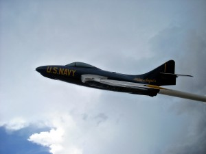 Blue Angels jet at the Florida Welcome Center. Photo R. Anderson