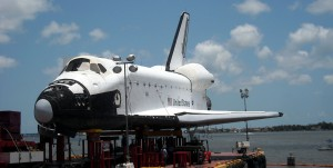 Another side view of the Space Shuttle mockup. Photo R. Anderson