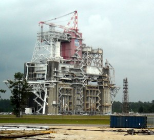 Rocket test stand at Stennis Space Center. Photo R. Anderson