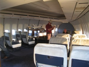 From this angle the interior of the SCA looks like any other 747. Photo R. Anderson
