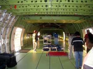 Inside view of the Shuttle Carrier Aircraft. Photo R. Anderson