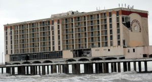 The Flagship Hotel in Galveston was another victim to the power of Ike. The area has since been converted to the Galveston Historic Pleasure Pier. Photo R. Anderson