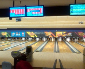 The epic struggle of man and woman versus pins takes place daily at bowling alleys across the world. Photo R. Anderson