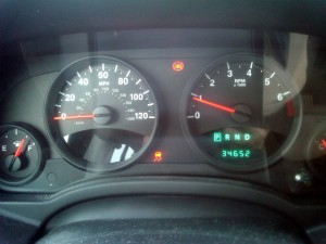 It is never a good thing when the dash warning lights stay on. Photo R. Anderson