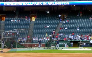 A second ballpark viewing of the Rays was added in Arlington when I saw them take on the Texas Rangers. Photo R. Anderson