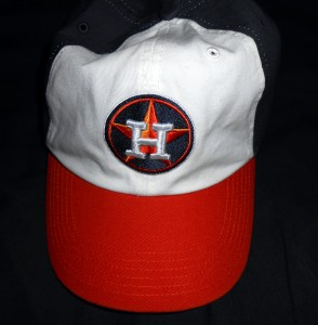 At least the hats are sharp for the Astros to make up for some of the less than sharp play on the field. Photo R. Anderson