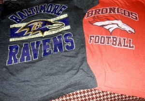 While I follow both the Baltimore Ravens and the Denver Broncos whenever they play each other I cheer for the Ravens. Photo R. Anderson