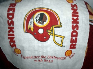 I have owned this rally towel for around 30 of the nearly 80 years that the Redskins have played in Washington. Some people think the name should change while others feel it is a part of civic pride. Photo R. Anderson