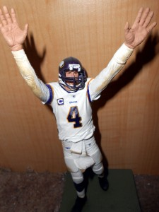 Brett Favre, shown in plastic miniature form, last played in the NFL in 2010. The fact that a team wanted him to play again in 2013 shows just how bad the crop of quarterbacks is this season. Photo R. Anderson