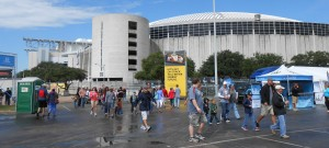 The Astrodome seen during the Grand Prix of Houston may soon exist only in the memories of those who have visited it after voters rejected a $217 million plan to save it. Photo R. Anderson