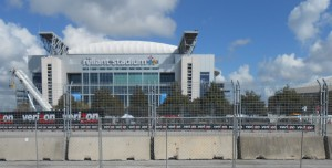 Reliant Stadium was built next to the Astrodome and became the go to facility for football and rodeo events while the Astrodome fell into disrepair and neglect. Photo R. Anderson