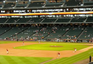 Empty seats and losing records are both common these days at Minute Maid Park. Photo by R. Anderson