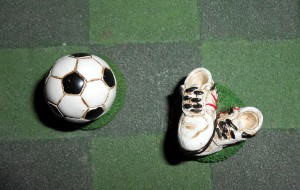 I once interviewed a soccer goalie who had magic shoes and a lucky Argyle sock. Photo R. Anderson