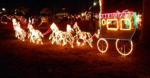 It wouldn't be a Texas light show without a stage coach. Photo R. Anderson