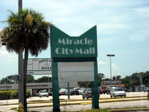 The Miracle City Mall in Titusville, Florida saw its hey day during the Apollo years. Soon it will meet the bulldozer after becoming a ghost of its former self over the past couple of decades. Photo R. Anderson