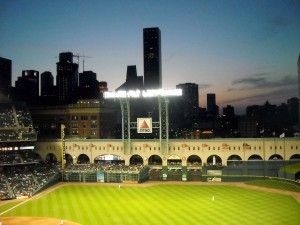 Early indications point to another long season for the Houston Astros. Fans can take comfort in the return of the view of the skyline however. Photo R. Anderson