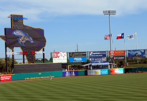 If all goes to plan Tracy McGrady will be up on the Texas jumbotron soon for the Sugar Land Skeeters. Photo R. Anderson