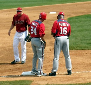 Prior to coming to Houston Bo Porter was the third base coach for the Washington Nationals. The Nationals are having a much better year than the Astros and could reach their first World Series. Photo R. Anderson
