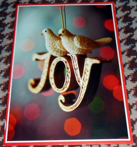 I recently found the last Christmas card my Grandmother sent me which served as a reminder to find joy even in times of loss. Photo R. Anderson