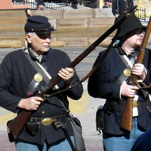 The Battle of Galveston is reenacted yearly. The Civil War led to what would become Memorial Day. Photo R. Anderson